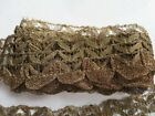 GORGEOUS Old Vintage FRENCH METALLIC LACE TRIM 2 Yards by 2