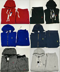 MENS POLO SWEATSUIT TOP AND BOTTOM COMPLETE SET ALL COLORS ALL SIZES