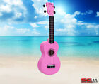 MAHALO Rainbow Series Soprano Ukulele MR1 PK PINK Finish Aquila Strings Gig Bag
