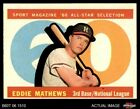 Eddie Mathews Cards and Autographed Memorabilia Guide 11