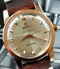 Vintage 1954 Omega Bumper Automatic Seamaster Watch PINK Gold Cap Case Serviced