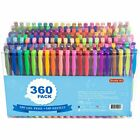 Gel Pens Pen Set 360 Colors For Adult Glitter Coloring Books Writing Drawing Art