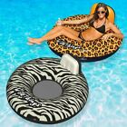 Swimline Wildthings Floating Tube for Swimming Pools Cheetah and Zebra 2 Pack