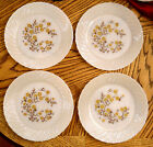Termocrisa White Milk Glass Dinner Plates Floral Pattern Mexico Mid Century VTG