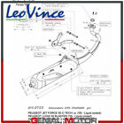 Complete Exhaust System Leovince Sito Steel Peugeot Ludix Blaster 50 2005