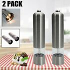 2X Electric Salt Pepper Grinder Automatic Mill Shakers Stainless steel
