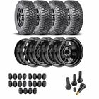 JEGS 681110K44 Jeep Wheel and Tire Kit 1987 2006 Wrangler YJ TJ 1984 2001 Cherok