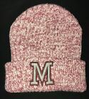 winter BEANIE KNIT HAT burgundy INITIAL M REBEL BY PRIMARK stretch ages 7-13