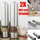 2X Stainless Steel Electric Salt Pepper Mill Salt Grinder Automatically Kitchen