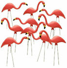 Pink Flamingo Yard Statue 10 Pack Outdoor Lawn Decor Metal Legs Ornament Durable