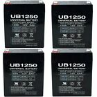 4 PACK UPG UB1250 12V 5AH SLA Battery for Razor e100 e125 e150