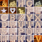 ILJ Wedding Party LED Light UP Standing Hanging Wooden Alphabet Letters Decor