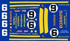 #6 Mark Donohue Porsche 911 RSR 1973 Sunoco 1/64th HO Scale Slot Car Decals