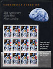 FIRST MOON LANDING  1969 APOLLO 11  US POSTAGE FULL SHEET MINT  WITH QUOTE