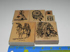Stampin Up Dream Catcher Stamp Set 6 Native American Indian Chief Teepee Horse