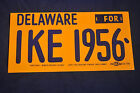 1956 *MINT* Delaware for Ike Bumper Sticker