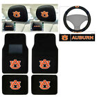7pc NCAA Auburn Tigers Car Truck Floor Mats Steering Wheel Cover Headrest Covers