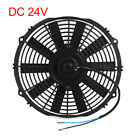 12 Universal Auto Car Radiator Air Conditioning Engine Cooling Fan Black DC 24V