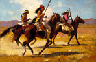 Howard Terpning LIGHT CAVALRY Giclee Canvas Native American Artist Proof A P32