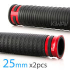 Cyber style grips black TPR +red aluminum trim 1 x2PCS moped bike