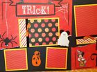 Premade Scrapbook 2 Page Layout DISNEY MICKEY TRICK OR TREAT HALLOWEEN SALE