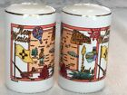 State of New Mexico 3 Tall 2 Round Salt  Pepper Shaker Set Ceramic