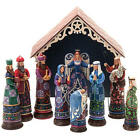 Jim Shore Heartwood Creek 10 Pc Bethlehems Miracle Nativity Set Large Boxed