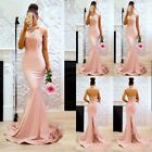 Women Sexy Mermaid Formal Wedding Dress Backless Long Evening Party Prom Gown