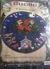 Vintage BUCILLA NATIVITY FELT HOLY CHRISTMAS TREE SKIRT KIT RARE BLUE NIP 43