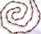 32 HAND KNOTTED RUBY RAINBOW GLASS BEADED NECKLACE  EARRING SET
