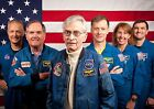 First  Last Space Shuttle Crews PHOTO Columbia Atlantis Mission Astronauts Flag