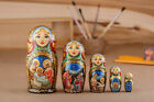 Nativity set Matryoshka 5 pieces Russian nesting dolls Christmas