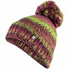 SPYDER Girls TWISTY Chunky KNIT +Fleece WINTER Ski SNOW BOARD Pom BEANIE HAT Cap