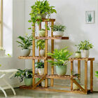 Multi Tier Wood Flower Rack Plant Stand Wood Shelves Bonsai Display Shelf Indoor