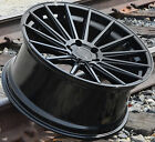 22x9 22x105 RF15 Wheels For Porsche Cayenne Panamera Gloss Black 22 Rims Set 4