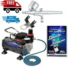 Art Craft Gravity Feed Dual action Airbrush Kit with 6 Foot Airbrush Materials