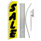 SALE YELLOW SUPER FLAG KIT Tall Advertising Super Swooper Feather Banner Sign