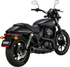 Competition Black Slip On Exhaust Vance  Hines 47937 14 17 H D Street 500 750