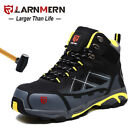 LARNMERN Men Steel Toe Work Boots Outdoors Hiking Boots Waterproof Safety Shoes