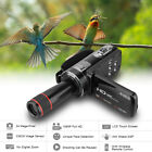 1080P Full HD Digital Video Camera Camcorder 16X Zoom with 12X Telephoto Lens