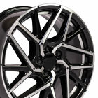18 Wheels Set Gloss Black Machined Fits Honda Accord Civic Prelude CRZ 5x1143