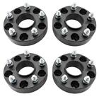 4 15 Wheel Spacers Hubcentric 5x5 for Jeep JK Wrangler Grand Cherokee Black