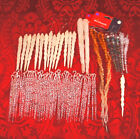 Vintage Mixed Plastic Icicle Themed Christmas Ornament Lot Frosted Twisted Bead