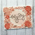 Flowers Frames Stamps and Dies Metal Cutting Dies Clear Stamps Scrapbooking