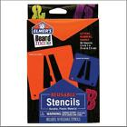 1  2 Inch POSTER STENCIL SET 90 Reusable Plastic LETTERS NUMBERS SYMBOLS Elmers