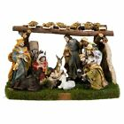 10 Piece Christmas Nativity Scene Set with Stable Decoration 5 Inch Tall N0282