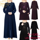 MuslimLong Chiffon Dress Dubai Abaya Kaftan Islamic Robe Without Hijab Plus Size