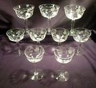 Set 7 Hand Etched Optic Crystal Wines Plus 2 Cordials Elegant Glass