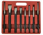 8 Pc Heavy Duty Jumbo Large Mechanics Punch and Chisel Tool Set with Case