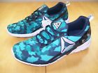 New Reebok Pump Blue Camo Sneakers Running Shoes Womens 10 NWOB